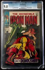 Iron Man #2 CGC 9.0 OW/WH 1968