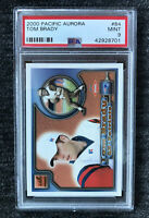 2000 Pacific Aurora Tom Brady Rookie Card RC #84 PSA 9 MINT Patriots BB Centred