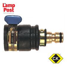 CK Tools G7919 Brass Tap Union Connector Garden Water Hose Standard bore 10-20mm