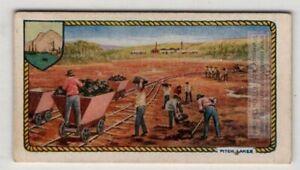 Gathering Tar  Asphalt  From Pitch Lake Trinidad c90 Y/O Ad Trade Card