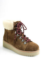 Sam Edelman Womens Suede Lace Up Franc Ankle Boots Toffee Brown Size 5
