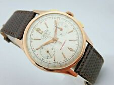 Wertex Chronograph 18 Carats Roses Gold 50's Manual Service Winding 37,5 mm With
