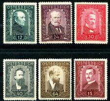 Austria 1932 Artist Semi-Postals Complete Set 6 Mnh Scotts B100 to B105 (S1)