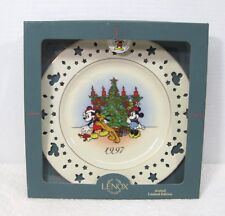 1997 Mickey Mouse Lenox Plate Trimming Trio w Mickey Mouse & Star Cut Outs