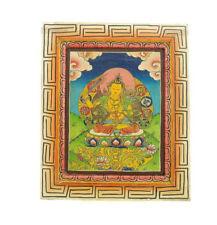 TARA PEINTURE SUR BOIS TIBETAINE NEPAL TANGKA 5335
