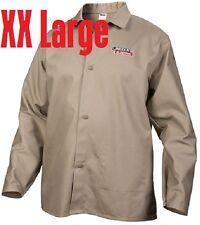 Lincoln Electric XXL Caqui Resistente Al Fuego Tela Soldadura Camisa Chaqueta