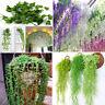 Artificial Silk Wisteria Fake Ivy Garden Hanging Flower Plant Vine Wedding Décor