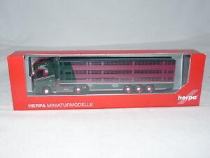 herpa 313391 Scania CS 20 HD Viehtransporter-Sattelzug Hachmeister 1:87 NEU +...