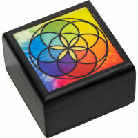 Velvet Lined Printed Clear Top Jewelry Box - Seed of Life
