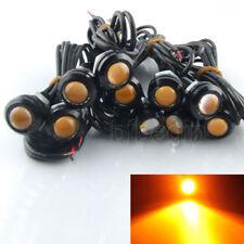 5 Pairs 9W Car Motorcycle LED Amber Eagle Eye Backup Light DRL Fog Driving Lamp