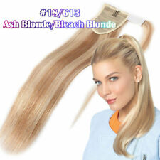 Young Ladies Wrap Clip in Silk Straight  Ponytail 100% Remy Human Hair Extension