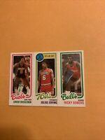 Ricky Sobers Julius Erving Junior Bridge man 1980 81 Topps Basketball Card Cb3