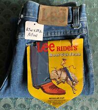 Vintage LEE RIDERS BOOT CUT JEAN 27x29 Actual Measure NOS PREWASH REGULAR CUT