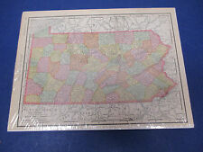 Rand McNally Atlas Map Page Pennsylvania 1902 Nice Color, Suitable To Frame