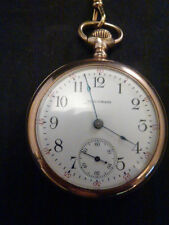 """American Waltham Watch Co. 1906 Gold Plated Pocket watch """"Works"""