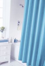 Spectrum 180 X Cm Shower Curtain and Rings Set Teal Living Room Home Bedroom