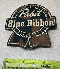 Vintage Scarce Porcelain Pabst Blue Ribbon Beer Clip / Display / Tag / Mini Sign