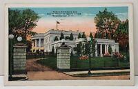 Washington DC Public Entrance and South Front of White House Postcard C11
