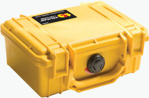 New Yellow Pelican ™ 1150 with foam Case includes free Engraved Nameplate
