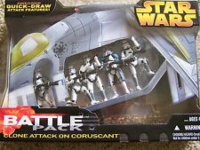 """Star Wars Clone Attack On Coruscant 3.75"""" battle pack"""