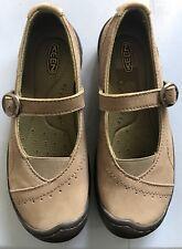 New Keens Mary Janes Size 5 Girl's Woman Taupe Khaki Tan Shoe Size 35 EU
