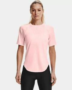 Under Armour CoolSwitch T-Shirt Women's Pink White Sportswear Top Activewear Tee