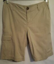 Liz Claiborne Lizwear womens 10 shorts Beige cargo cotton Bermuda Walking