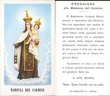 SANTINO DELLA MADONNA DEL CARMINE CON PREGHIERA ALLA MADONNA DEL CARMINE  N-1019