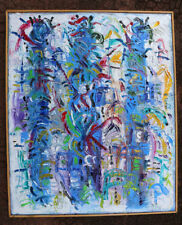LES SORCIÈRES DE SALEM  huile sur toile oil on canvas modern Art Abstract
