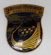 Ältere Auto Plakette ADAC -  28. Heimat-Wettbewerb ADAC - Pfalz 1983