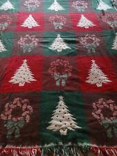 Christmas tree & wreath throw blanket - lap blanket