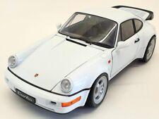 Welly 1/18 Scale Model Car 18026 - Porsche 964/911 Turbo - White