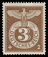 EBS Germany 1943 Special Cancellation Swastika Stamp Michel 830 MNH**