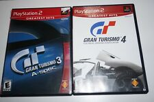 Gran Turismo 3 & 4 (Sony Playstation 2 ps2) Complete Set Lot Both