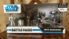"Star Wars Hasbro 2008 HOTH RECON PATROL Battle Pack, RARE 3.75"" Figures, New MIB"