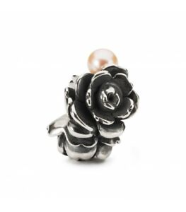 Trollbeads Bead in Argento Rosa D'Amore TAGBE-00274 ORIGINALE