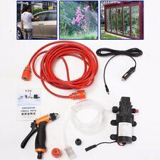 Portable Electric 80W 130PSI High Pressure Car Washer Wash Pump 12V Clean KIT