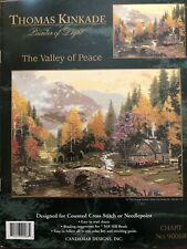 New ListingCandamar Designs Thomas Kinkade Counted Cross Stitch The Valley Of Peace~Chart