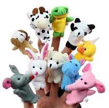 SET of 10Pcs Cute Cartoon Animal Finger Puppet Plush Toys Child Baby Favor Dolls