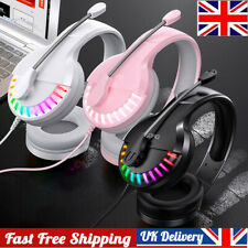 More details for gaming headset for xbox one ps4 s x switch b pc laptop stereo mic headphones uk