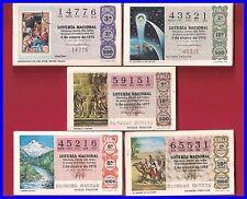 LOTE 5 AÑOS COMPLETOS LOTERIA NACIONAL DEL SABADO DEL 1975 AL 1979,