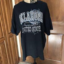 Mens Gildan Heavy Cotton Black Oklahoma Tshirt - Size XL
