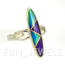 New Trendy Zigzag Double Mood Ring Multi Colored Change Free Color Chart