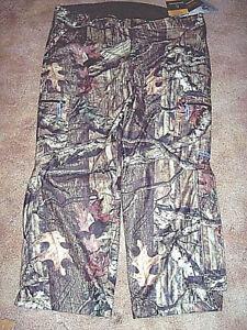 Mens 3X Camo Hunting Pants Mossy Oak Camo Rain Pants Scent Control Waterproof