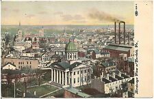 Bird's Eye View of Norfolk VA Postcard 1909