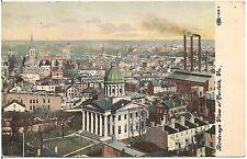Bird's Eye View of Norfolk VA Postcard 1909