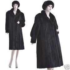 Mint! Rare Petite Large! High Grade Deep Mahogany Female Mink Fur Pleated Coat