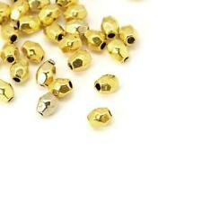 Tibetan Oval Spacer Beads 3 x 4mm Antique Gold 30 Pcs Art Hobby Jewellery Making