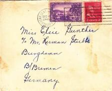 1939, Bronx, NY to Bremen, Germany, Censored, See Remark (C2192)