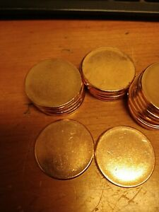 COPPER BULLION ROUND- 1 OUNCE-UNFINISHED BLANK LOT OF (20) .999 COPPER- 1 OZ.-